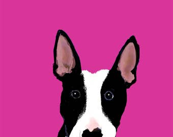 Bull Terrier Pup, Blank Card