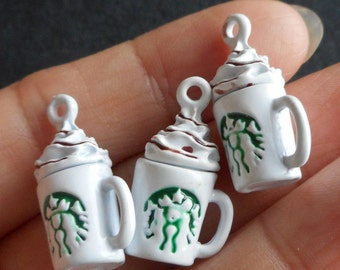 4pcs-3D  coffee mug charm-very cute