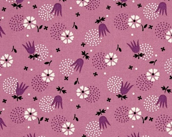 29026 Free Spirit Denyse Schmidt Eastham  Tulip Burst  in Thistle color PWDS100 -  1 yard