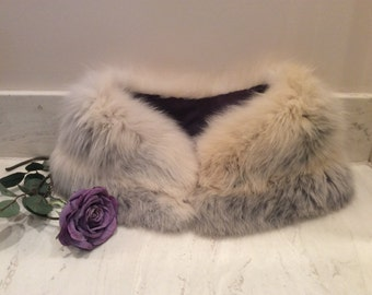 Vintage Fox Fur Collar Stole, Vintage Bridal Wrap, Vintage Wedding, Vintage Fox Capelet, Vintage Fox Fur Wrap Stole Collar