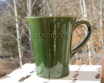 Green Starbuck's Mug Candle Vanilla Scent