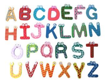 Buchtaben Magnet initials ABC School Letter Alphabet