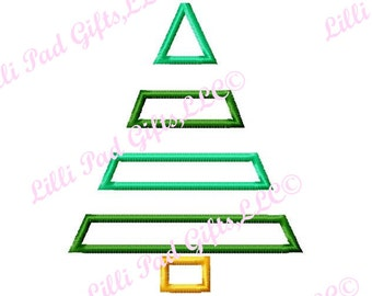 Christmas Tree - Plain Jane - Machine Embroidery Design - 12 Sizes