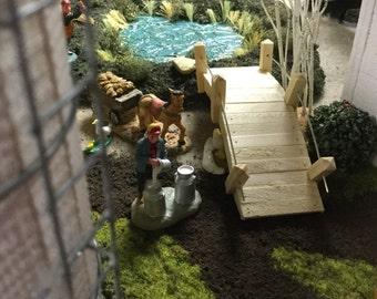 MINIATURE BRIDGE Fairy Garden / Wedding Table / Pedestrian Arch Bridge / Doll houses / O Gauge Model Railroads, Villages, & Scenery