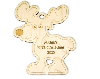 Baby's First Christmas Christmas Ornament Reindeer Christmas Personalized