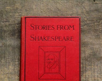 Shakespeare stories by Thomas Carter illustrated by Gertrude Demain Hammond vintage 1920s book