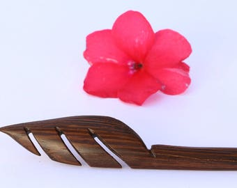 wooden hair stick, hair comb, hair jewelry, hair accessories, tribal hair stick, ethnic hair stick, hair pin, shawl pin, woodland jewelry