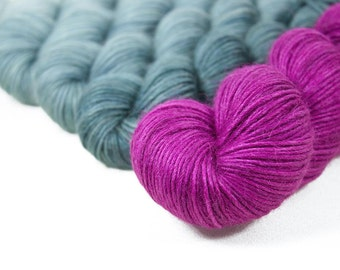 """Special Edition Gradient Colorwork Set """"Between Thought and Expression"""" Singularity DK"""
