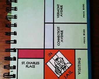 Monopoly Game Board Journal - In Jail/Just Visiting