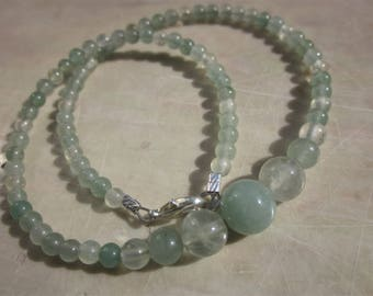 green Aventurine Prehnite Necklace for a kid: keep calm, everything will be fine