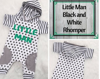 Little Man Romper/Baby Boy Outfit/Summer Clothes/Baby Boy Romper/Litte Man/Custom Apparel/Unique Clothes/Boys Summer Outfit/Boys Shorts