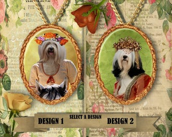 Tibetan Terrier Dog Jewelry Tibetan Terrier Jewelry Tibetan Terrier Art Tibetan Terrier Gift Custom Dog Jewelry Nobility Dog Porcelain