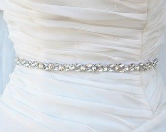 SALE Wedding Belt, Bridal Belt, Sash Belt, Crystal Rhinestones sash,vintage sash belt
