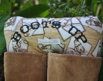Boots Up by Endear Me Handmade boot stuffer in Horse Cotton fabric - closet organizer; boot trees