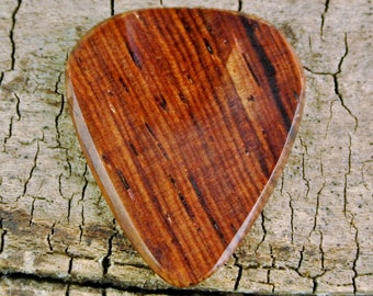 Cocobolo - Wooden Guitar Pick - Exotic Wood - Wood Guitar Pick - Wood Plectrum - Wood Gift