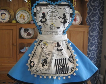 Children's Alice in Wonderland Retro apron