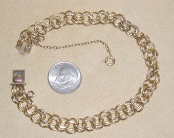 Vintage Signed Elco Gold Filled Bracelet For Charms 1960's Jewelry 2300