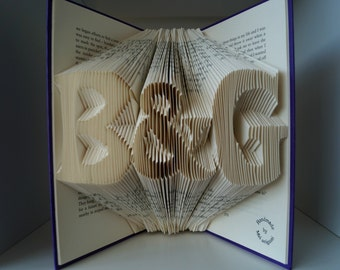 Folded Book Art-Paper Anniversary gift for couple-for gay couple-for men-for new husband/wife-wedding gift-gift wrapped-made to order