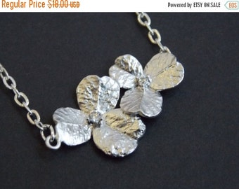 SALE Flower Necklace, Silver Necklace, Silver Flower Necklace, Flower Pendant, Zirconia, Orchid Necklace, Bridesmaid Necklace, Bridesmaid Gi