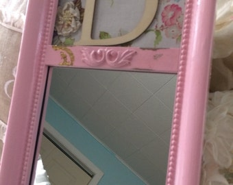 Adorable Children's mirror with initial of choice