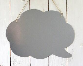 Galvanised steel magnetic board – Memo board - Cloud shape