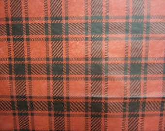 Plaid - Red and Black Print Tissue Paper
