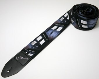 Handmade Police Box guitar strap - This is NOT a licensed product