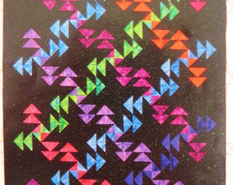 Fearless Leader Quilt Pattern, Animas Quilts AQP 25, Three Dimensional Patchwork, Rotary Cutting