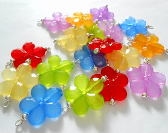 Soft Color Plastic Dangle Beads