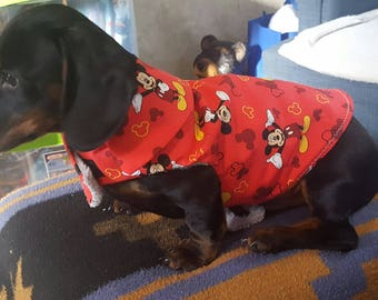 Micky Mouse Doggie Coat XS