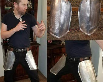 Spine ridge Cuisses- Fantasy thigh armor for male or female armor