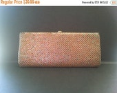 Holiday Sale Vintage Sparkly Purse, Retro Glamour Girl Clutch, 1950's 1960's Collectible Handbag, Holiday Gift idea, Gift For Her, Mad Men M