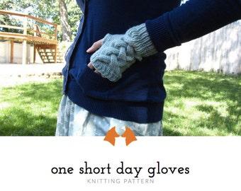 Knit Gloves Pattern, Fingerless Gloves Pattern, Knitting Pattern, Downloadable Pattern, Mens Gloves Pattern, Womens Gloves Tutorial