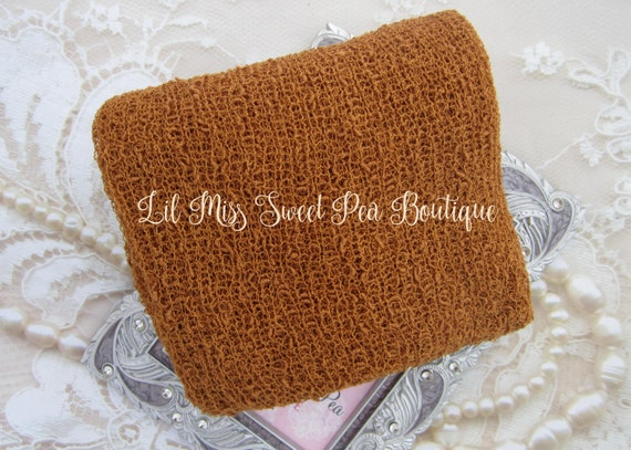 Pumpkin Spice Stretch Knit Wrap - 12x55 inches laying flat, up to 39x72 inches when stretched! Bebe, newborn photos by Lil Miss Sweet Pea 9