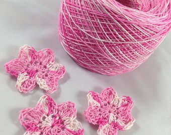 Crochet Cotton - Size 10 - Hand Dyed - Hello Sweetie - Small Project Size - 10, 25, 50, 75, or 100 Yards