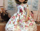 Spring Dress and Hair Bow for Dianna Effner 13 Inch Little Darling Doll