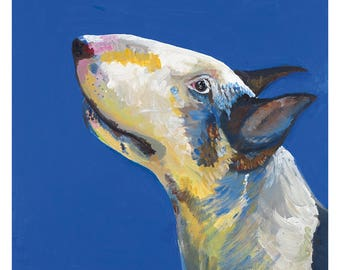 Archie: English Bull Terrier Art Card