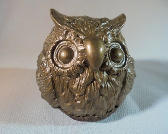 Handmade Stone Owl Paperweight, Decor, SHIPPING INCLUDED