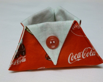 Coca Cola thread catcher for sewing and craft projects