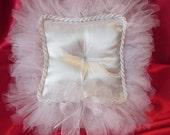 Custom Order for catobills. White Ring Bearer's Pillow