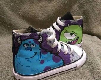 Monsters Inc custom toddler / kids Converse