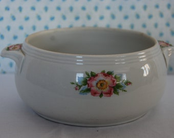 Vintage Hall's Rose White 658 Casserole Dish Without Lid