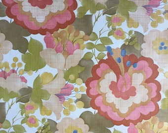 Vintage Wallpaper-1960s beautiful blossoms- by Inaltera-by the yard