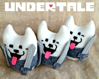 Lesser Dog UNDERTALE plushie by MW