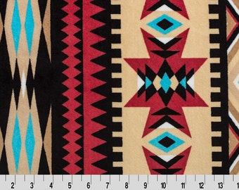 MINKY - Honey Aztec Cuddle Minky from Shannon Fabrics