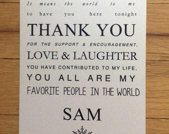 Sam//Thank You card