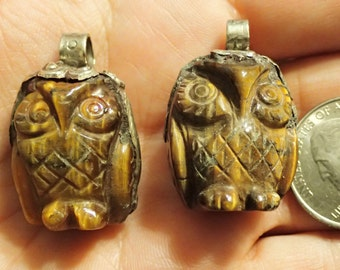 Tigereye OWL carved Pendant