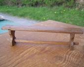 RESERVED FOR LINDA 1/12th scale handmade dollshouse miniature medieval/tudor or rustic long bench