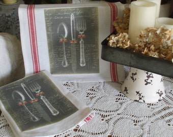French Kitchen Towels - Set of 2