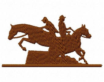 Riding Horses Machine Embroidery Design - Instant Download